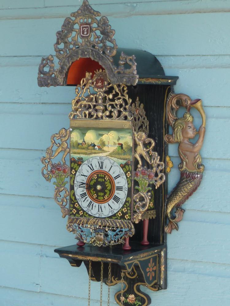 DUTCH FOLKLORE STOOL CLOCK